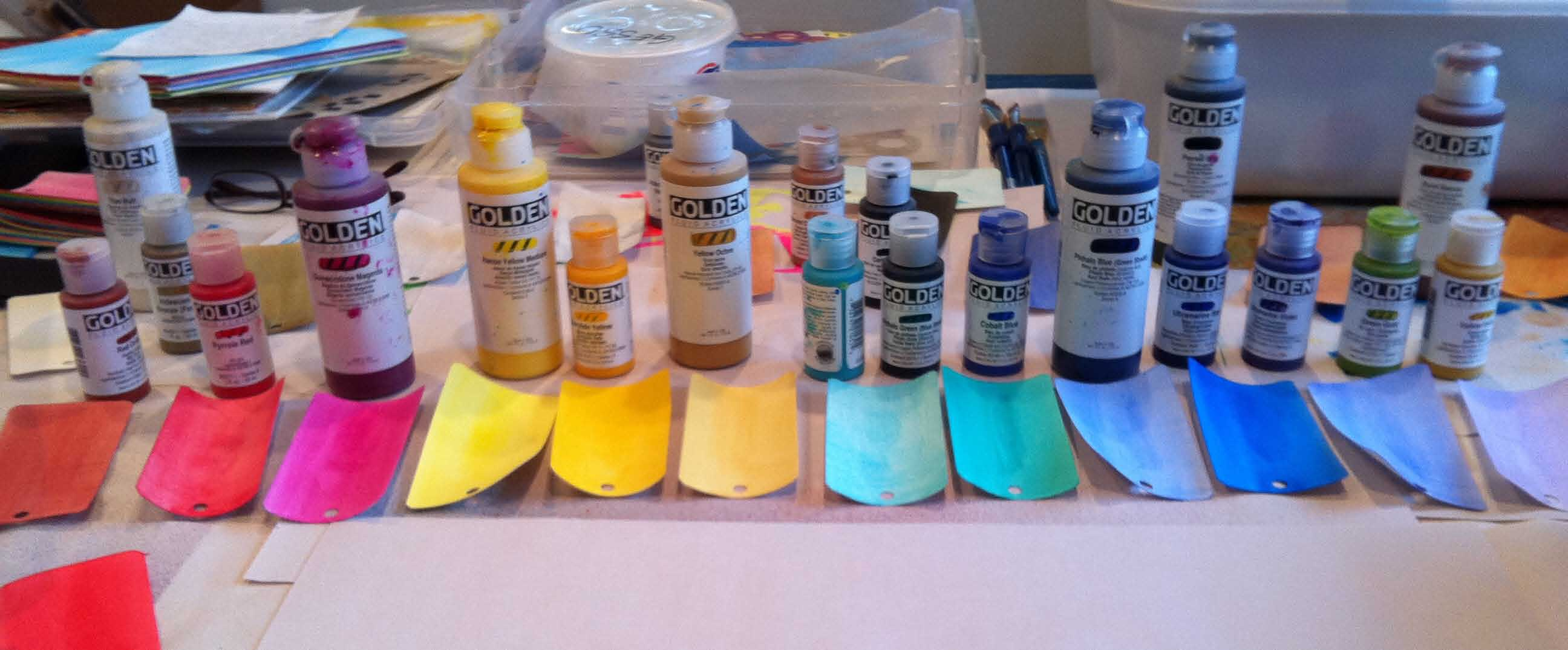 Playtime more color swatch tags simply artistic pleasures for How to make fluid acrylic paint