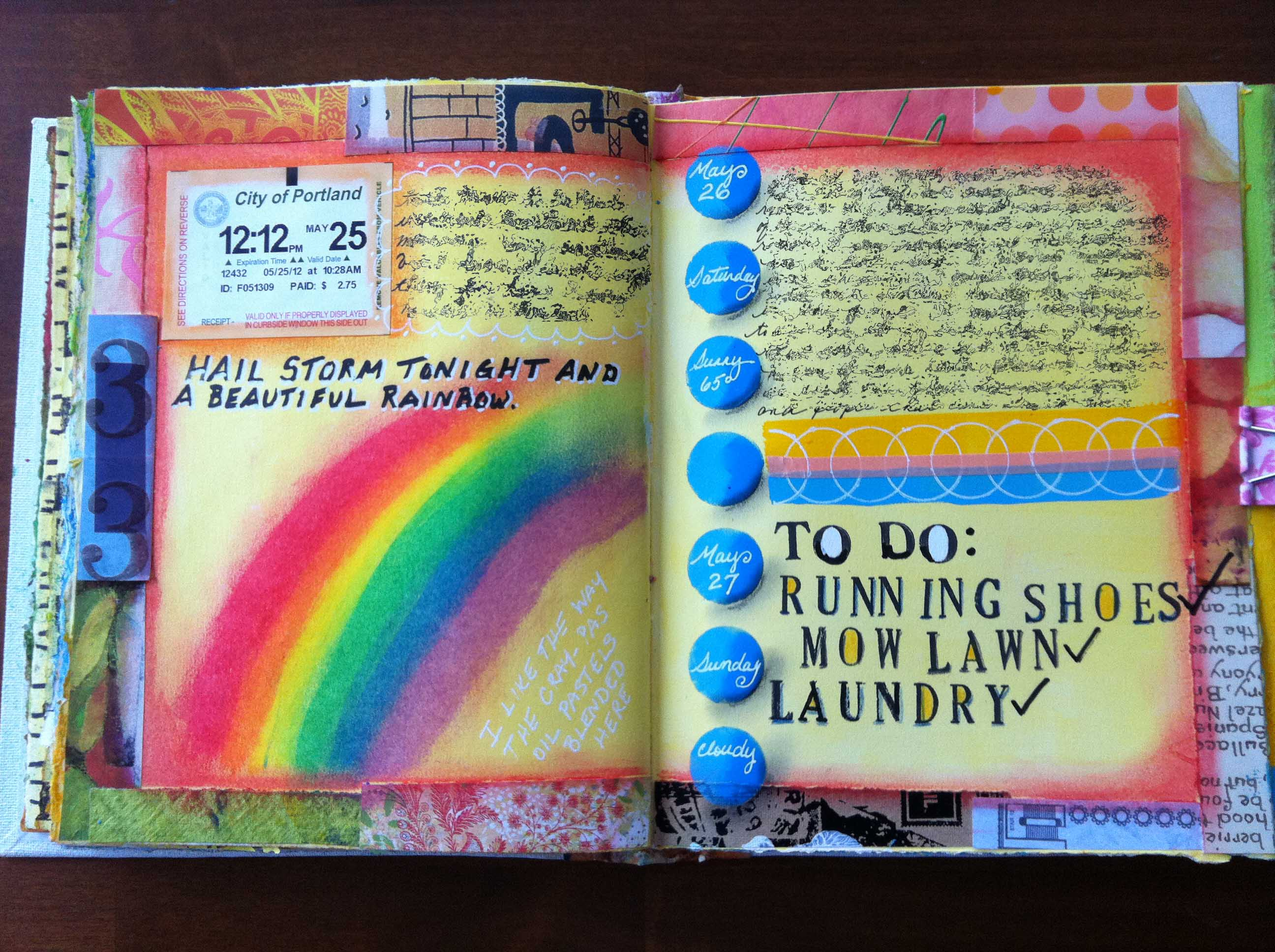 Art Journaling A Few More Entries Simply Artistic Pleasures