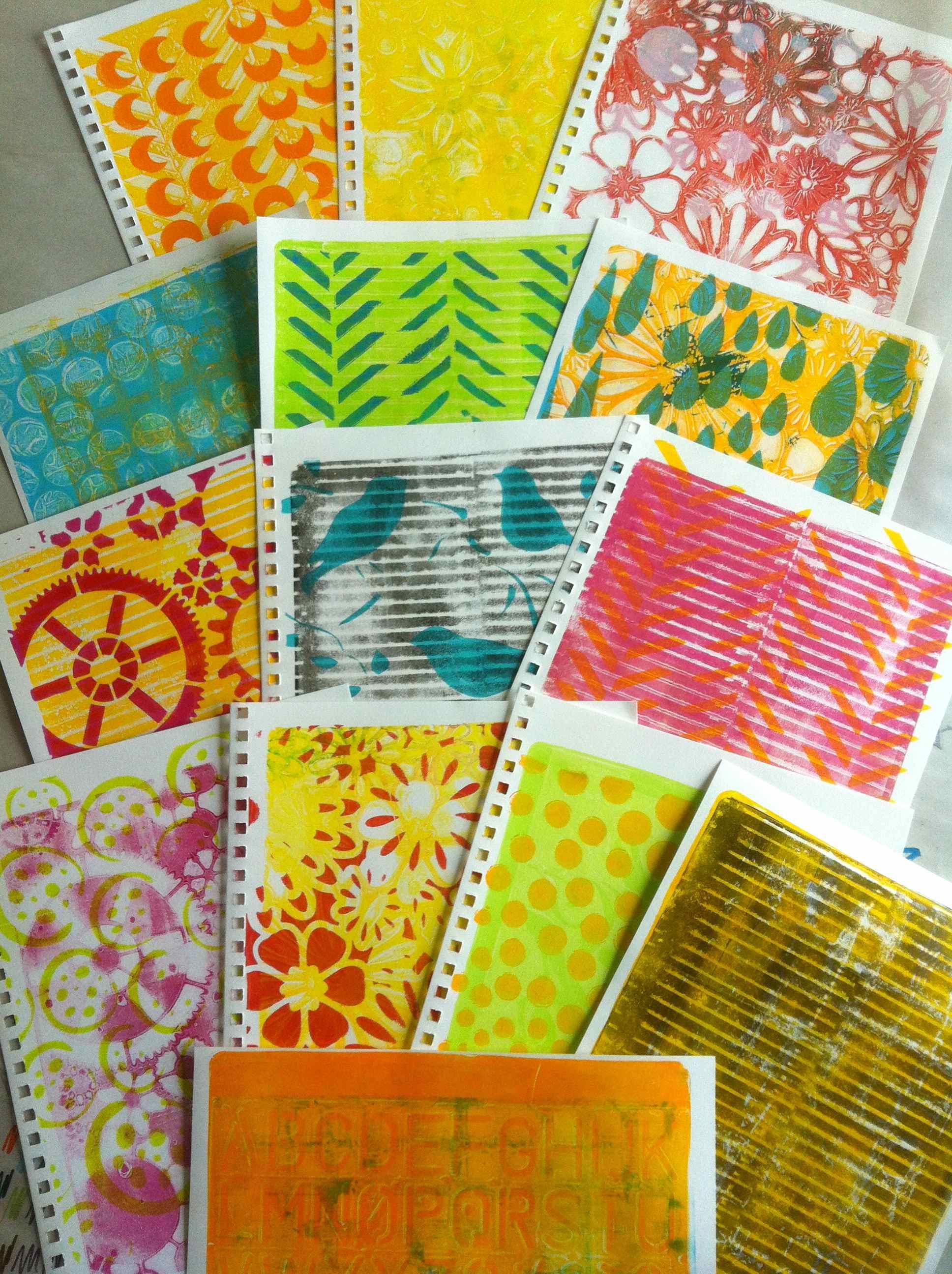 Gelli Arts Printing Plate – Part 2 | Simply Artistic Pleasures