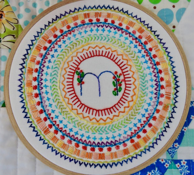 Rainbow Embroidered Medallion