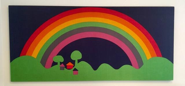 Rainbow Fabric Panel